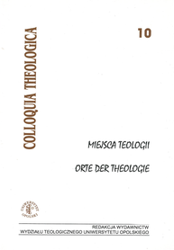 Miejsca Teologii. Orte der theologie. Colloquia theologica 10, J. Werbick, M Worbs
