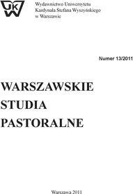 Warszawskie studia pastoralne nr 13/2011, ks. Edmund Robek SAC